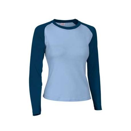 f2dcfe0b6d Camiseta mujer manga larga combinada - La tienda del obrero