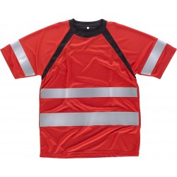 Camiseta combinada de manga ranglan corta con cintas reflectantes